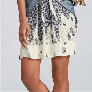 S CAbi leopard print Bella skirt pockets 301 new